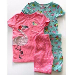 🦩Carter's Flamingo Pajama Set Size 5T